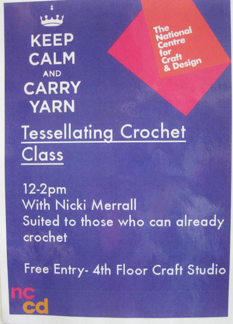 Poster for Tessellating Crochet