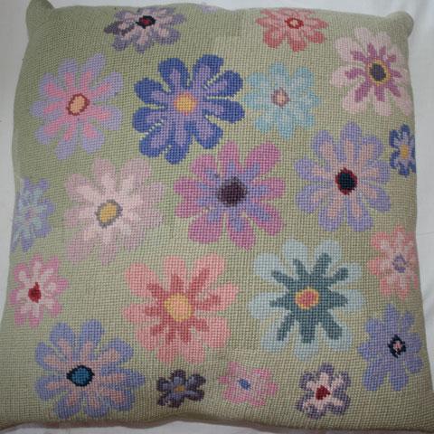 Flowers cushion by Nicki Merrall