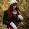 Twist collection comprises a hat, cowl, mittens and fingerless mittens