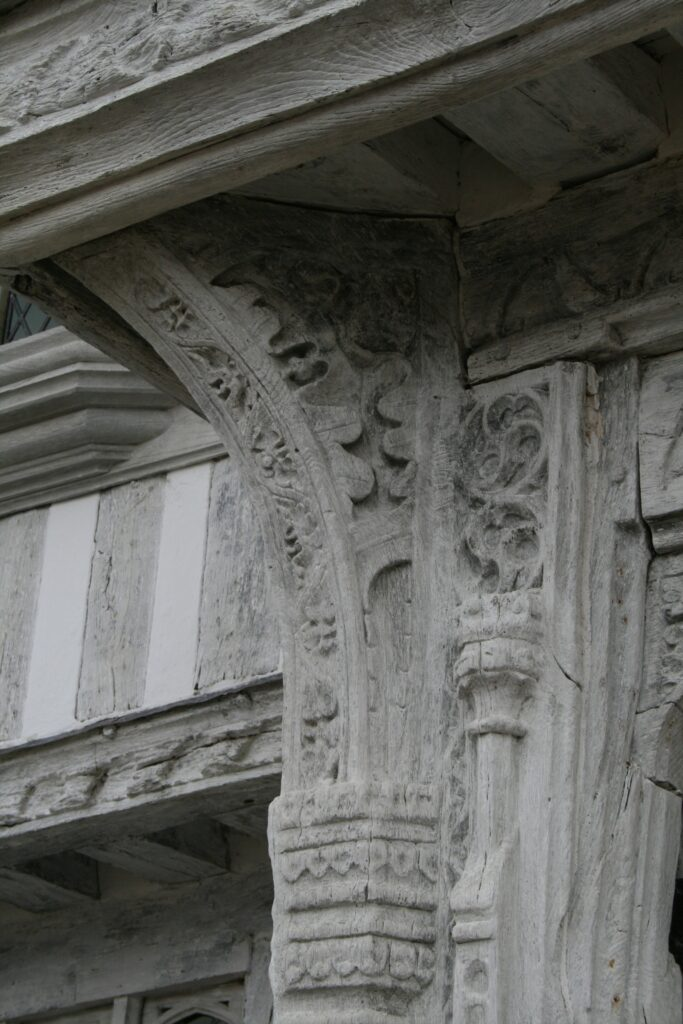 Detail of carving on the Guildhall