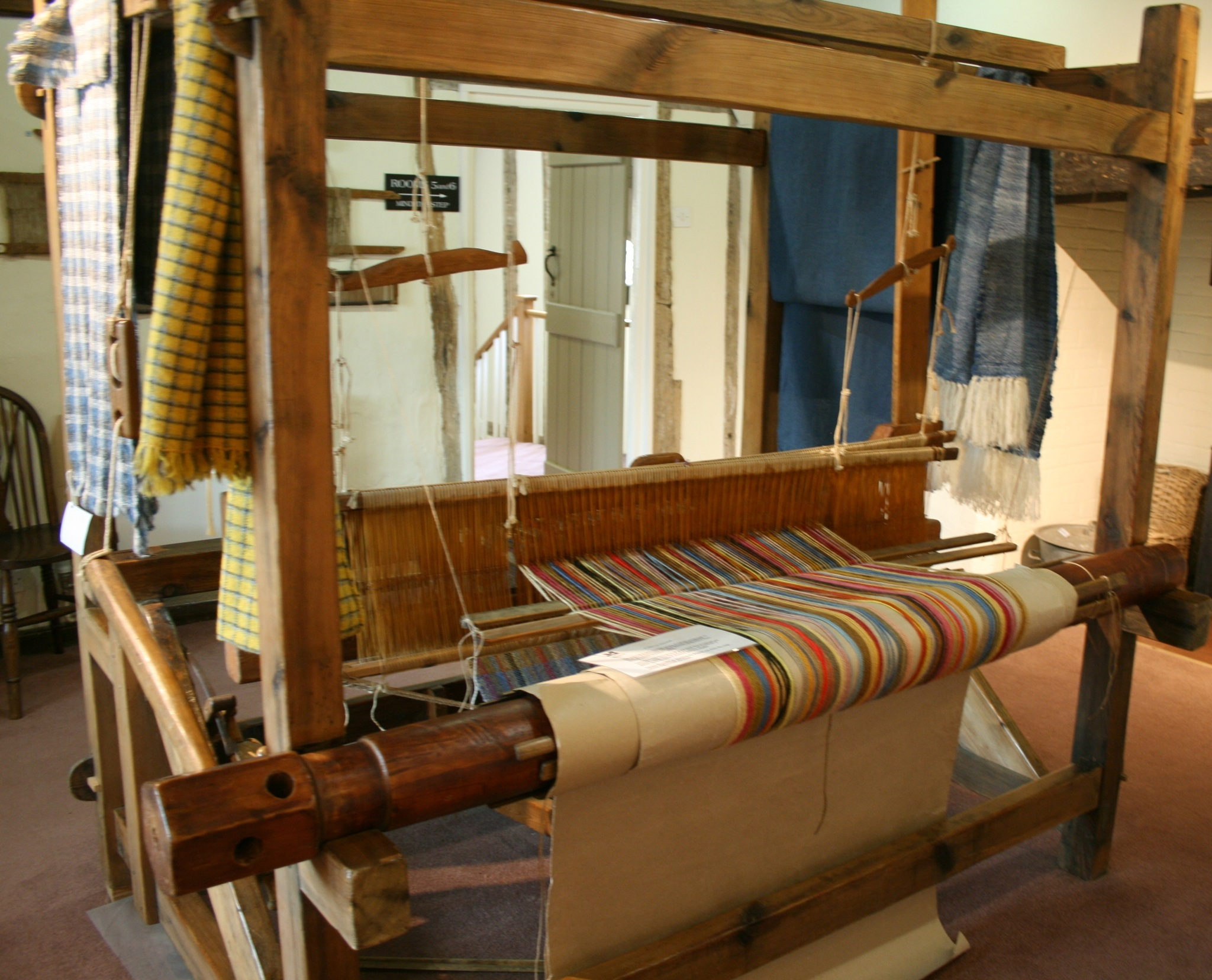 Manufacture of Lavenham blue cloth in medieval times