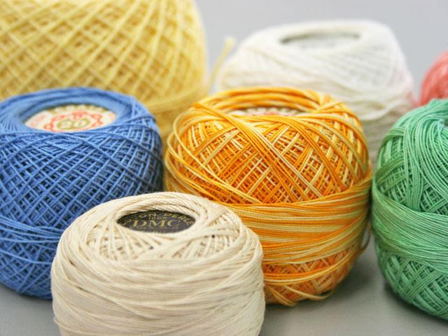 Vintage crochet threads