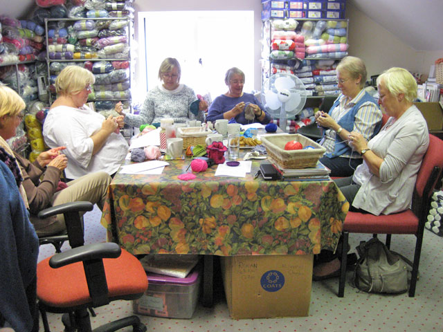 Participants at the Beyond the Crochet workshop