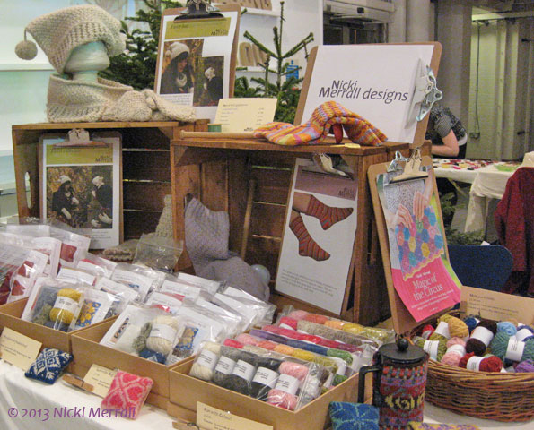 View of Being Knitterly stall at NTU Christmas craft fair