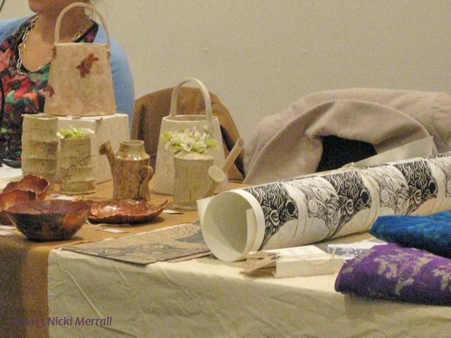 Stalls at the Art & Design Christmas Fair
