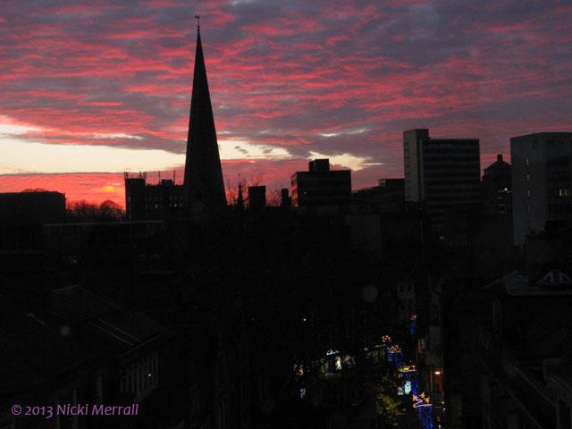 Sunset over Nottingham