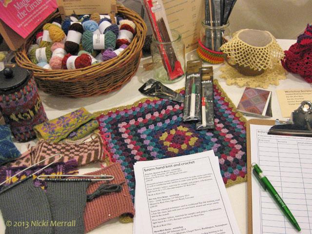 Workshop samples on display at the NTU Art & Craft Design fair 2013
