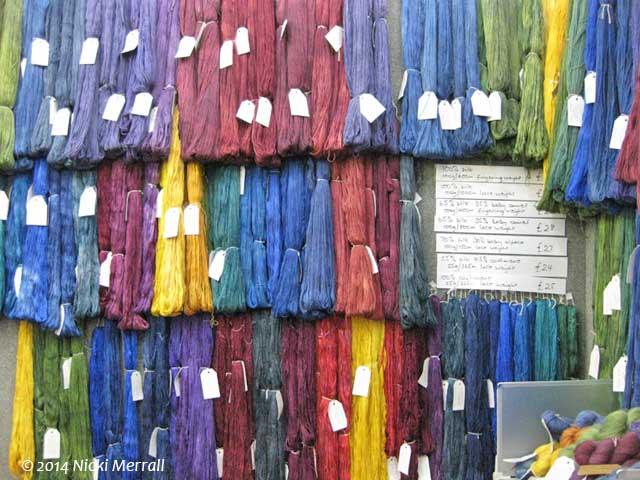 Colourful hand-dyed yarn