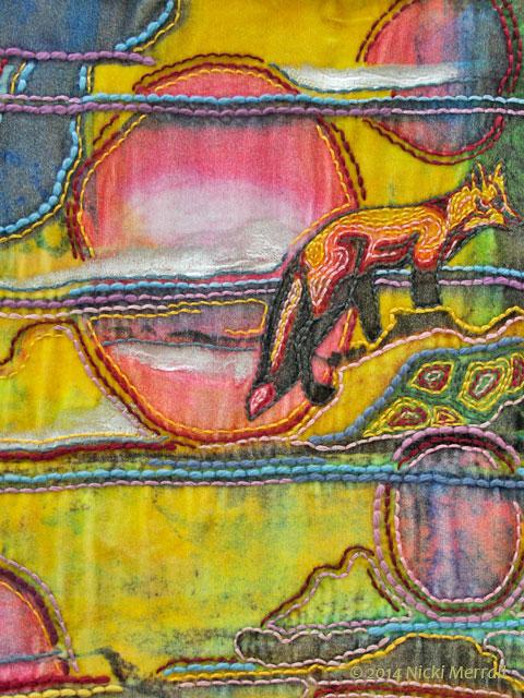 Multi-Media textile by Ella Shand