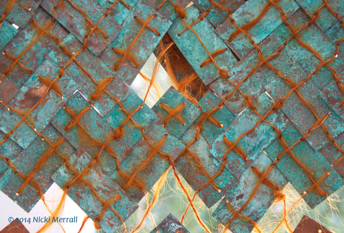 Multi-Media copper neckpiece by Emily Lippitt