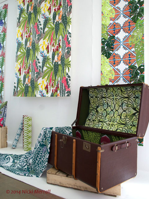 Printed wallpaper and fabric by Sophie Painter