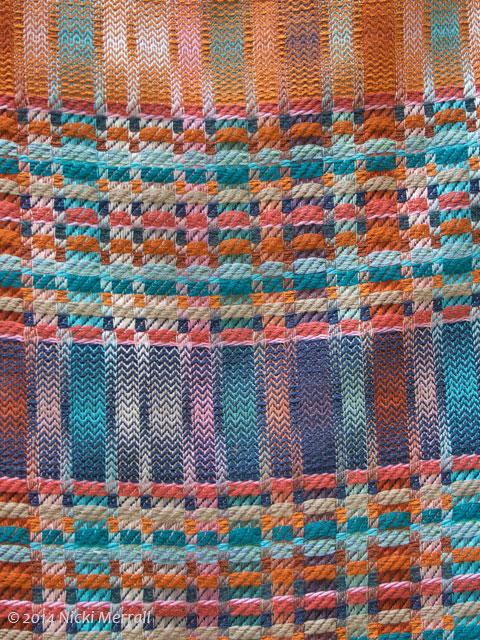 Woven fabric by Helena Rowley