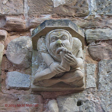 Gargoyles at Rufford Abbey