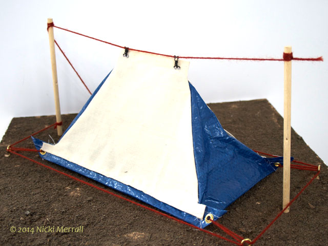 Model of tent by Jess R Polkey