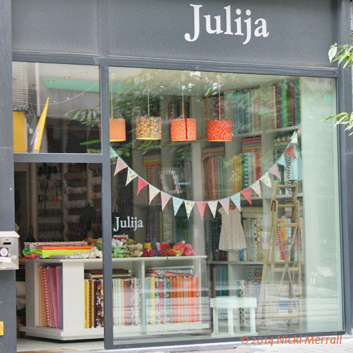 Front of Julija yarn shop in Antwerp