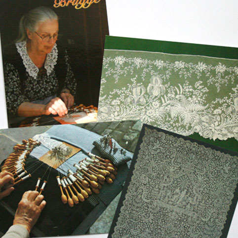 Postcards featuring lace