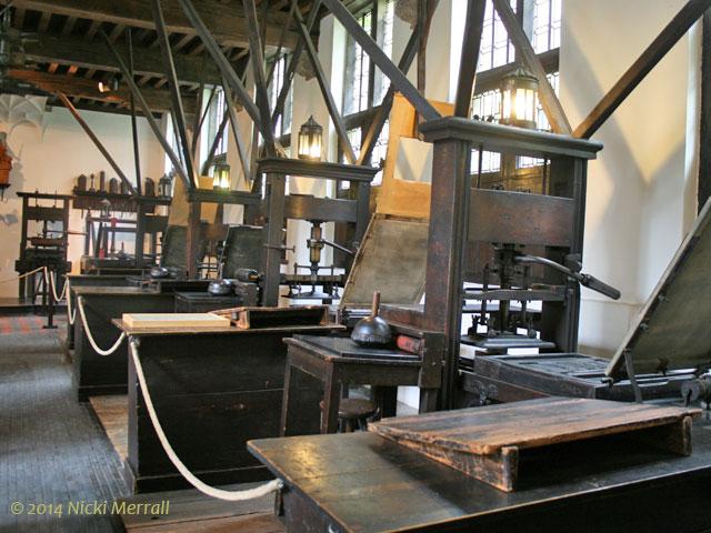 Printing presses at the Museum Plantin-Moretus, Antwerp, Belgium