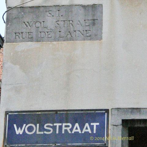 Street sign for Wolstraat