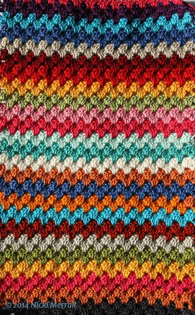 Having fun with colour when crocheting granny stripes