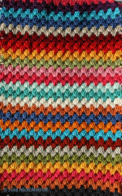 Read more about the article Having fun with colour when crocheting granny stripes