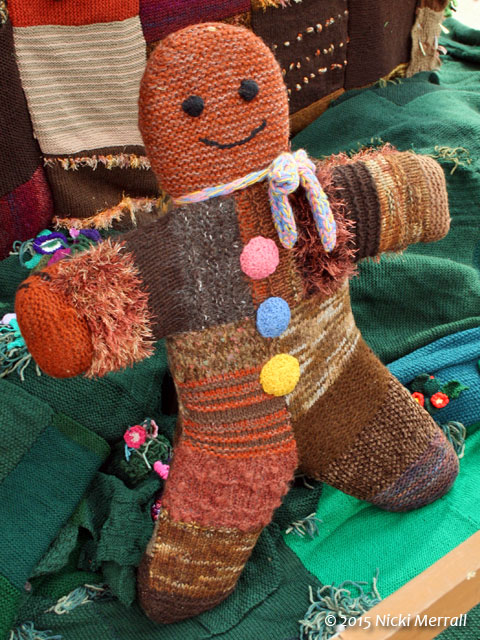 Knitted gingerbread man