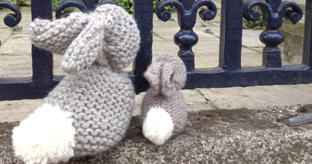 When Little Bunny and Big Bunny went hopping around Nottingham