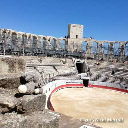 Little Bunny and Big Bunny at the Amphitheatre, Arles