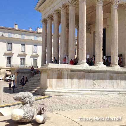 Little Bunny and Big Bunny at Maison Carree, Nimes