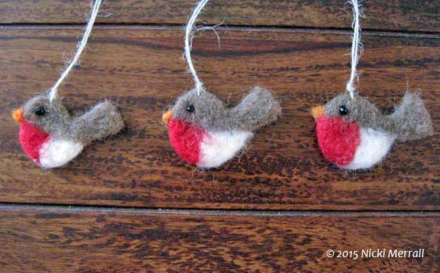 Cute Robins from Feltings at The Big Textile Show, 2015