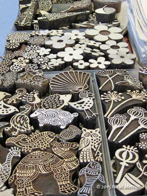 Printing blocks from Block Craft The Big Textile Show, 2015