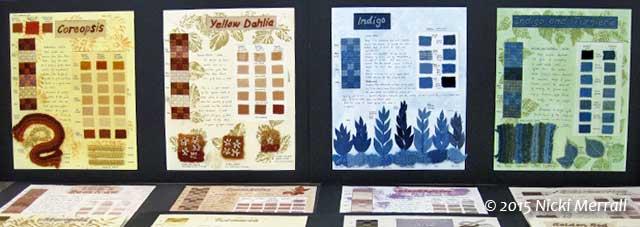 Natural Dye display by Linda Rudkin
