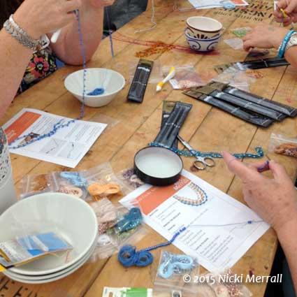 Simple Crochet Necklace workshop at The Big Textile Show, 2015