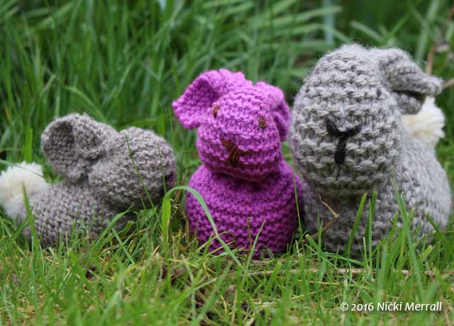 Little Bunny, Easter Bunny and Big Bunny in the garden