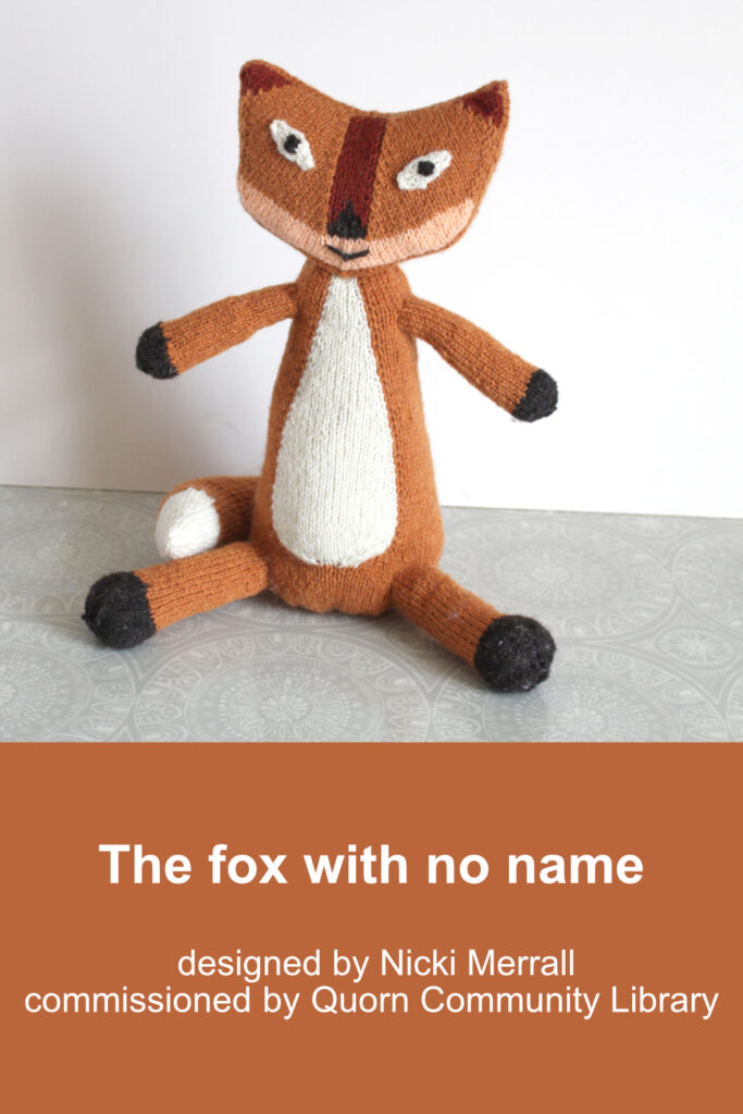 Finished knitted fox