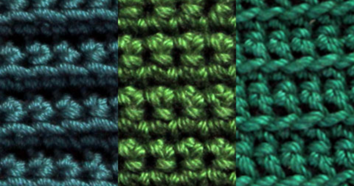 Inserting your hook in the top of stitches – a right-handed crochet tutorial