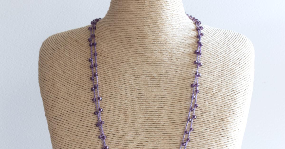 Sparkly Crochet Necklace kits