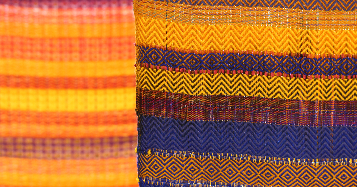 Inspirational Textiles: Woven textiles at the Arts Degree Show