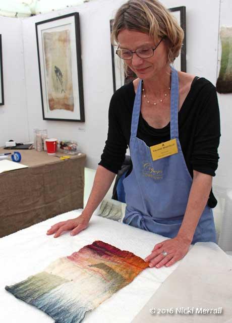 Valerie Wartelle demonstrating felting