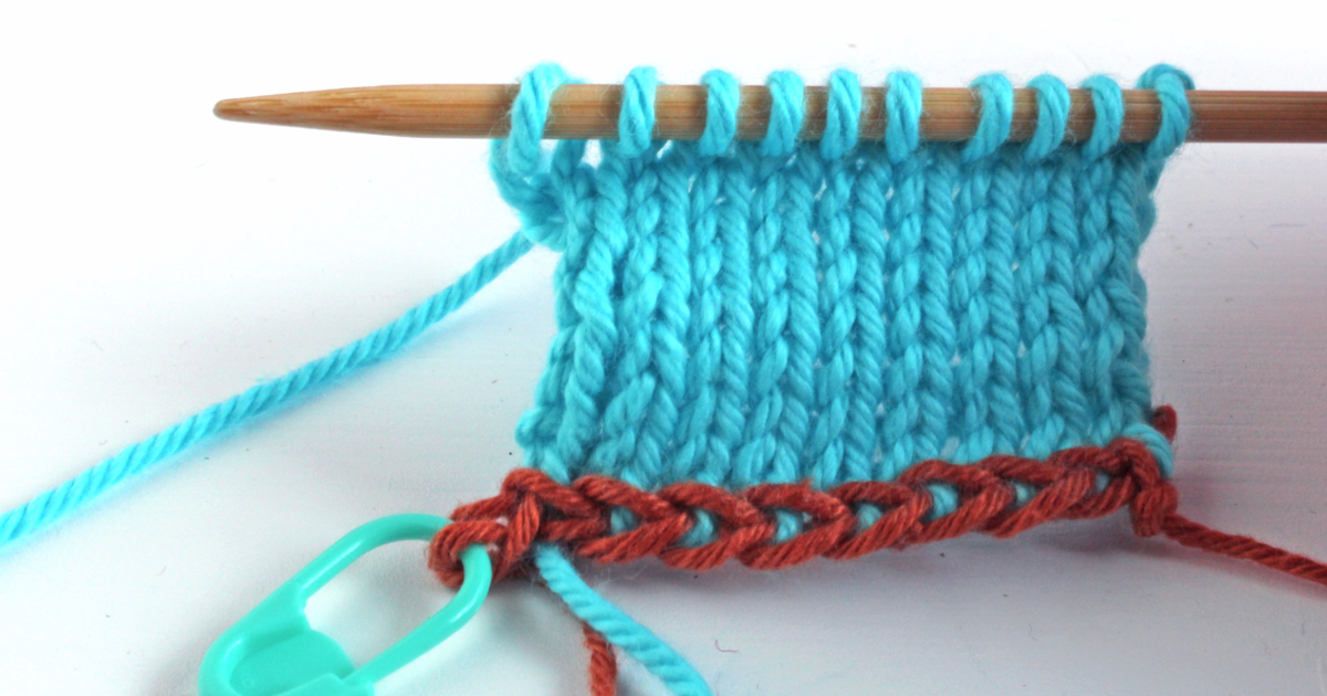 Crochet provisional cast-on method – a left-handed knitting tutorial