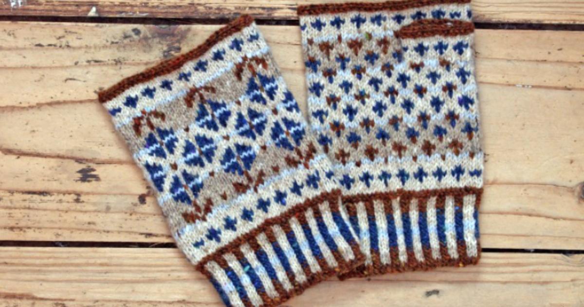 Guinevere fingerless mittens