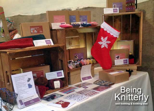 Being Knitterly stall at Winter Woollies in 2016