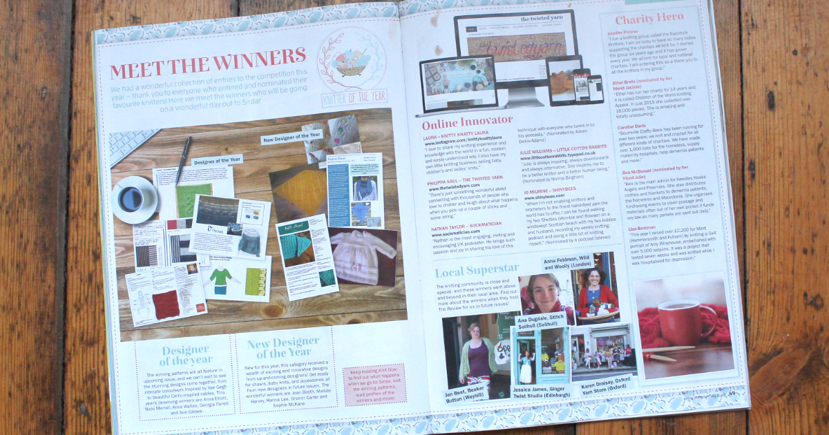 Read more about the article My little secret: Knitter of the Year 2016!