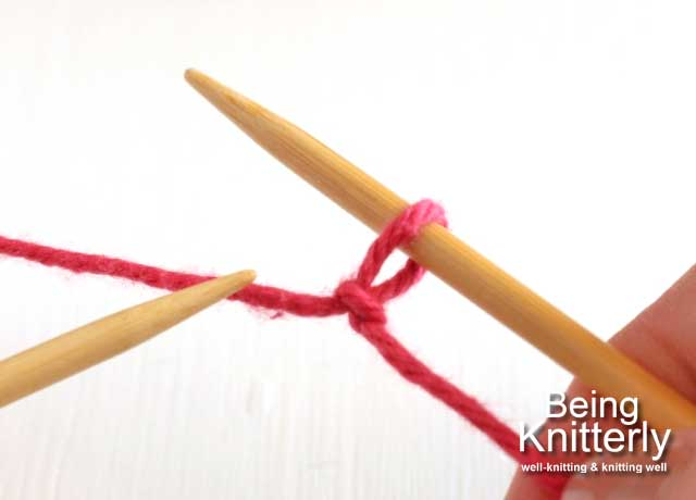 Step 0: Place slip knot on right-hand needle.