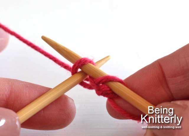 Step 6: Insert left-hand needle through new stitch