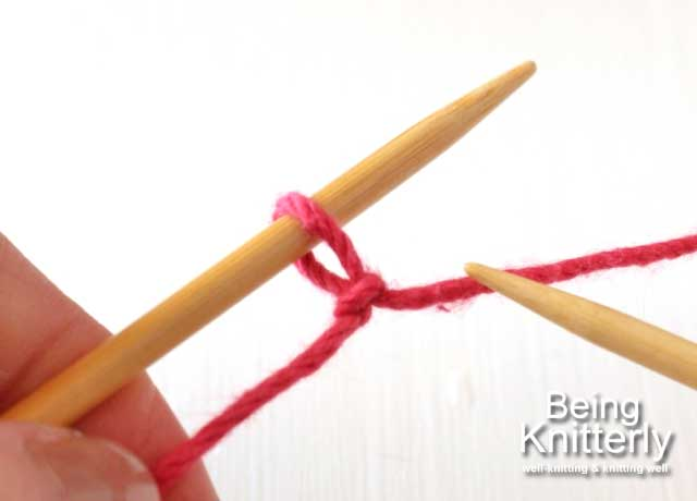 Step 0: Place slip knot on left-hand needle.