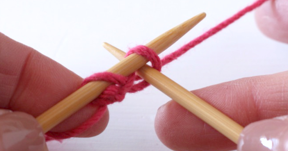 Knitted cast-on method – a right-handed knitting tutorial
