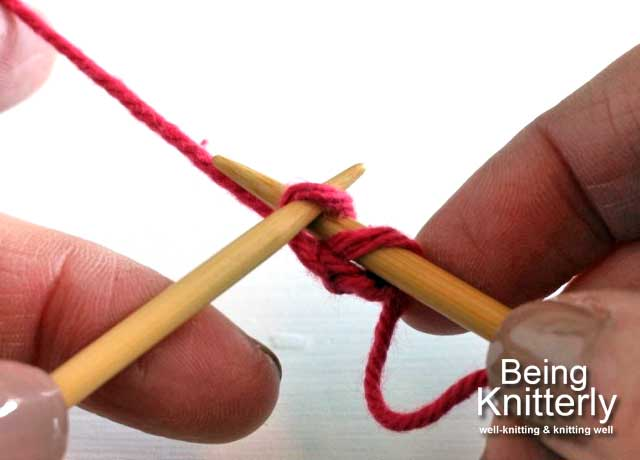Step 5: Place new stitch on right-hand needle