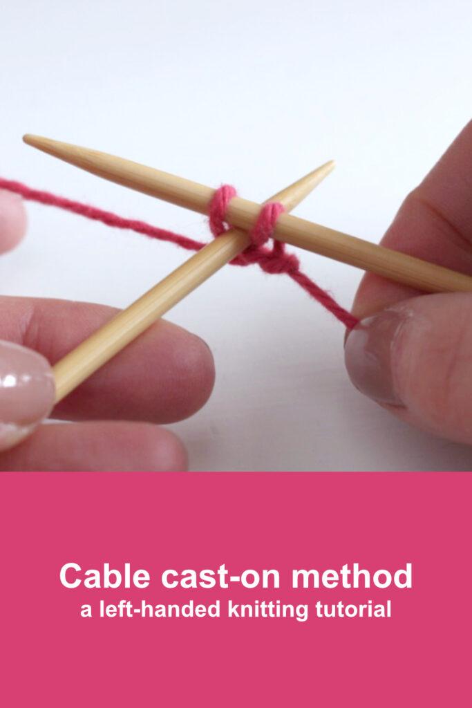 Move yarn clockwise round right-hand needle
