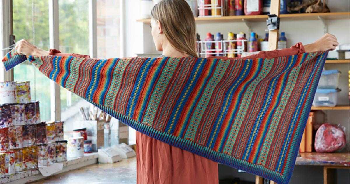 Painterly shawl