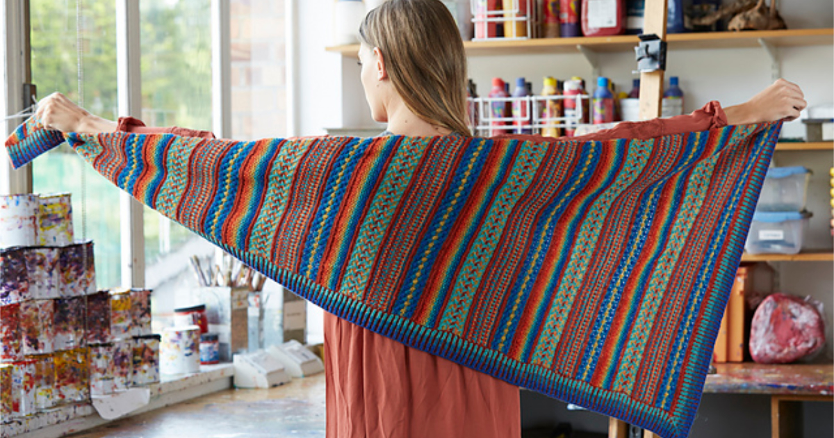 Read more about the article Painterly shawl